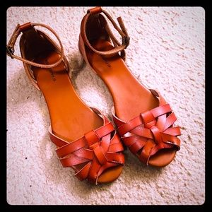 Mossimo Cognac Ankle Strap Sandal